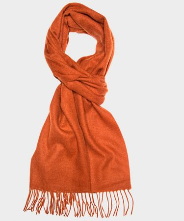 SCARF WOVEN RUST