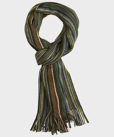 SCARF KNITTED GREEN