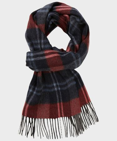 SCARF WOVEN GREY RED
