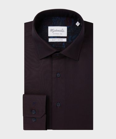 SHIRT KENT SF SCC BORDEAUX